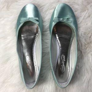 Vintage Ballet Satin Flat Shoes